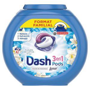 LESSIVE DASH Lessive en capsules 3 en 1 Pods Fleur de Lotu