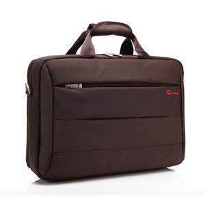 "SACOCHE INFORMATIQUE sac d'ordinateur coolbell 15.6"" brun"