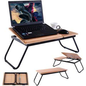 SUPPORT PC ET TABLETTE Table pour Ordinateur Portable Table de Lit en Boi