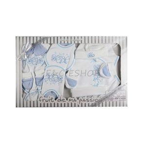 COFFRET CADEAU TEXTILE Coffret parure bain fruit de ma passion bleu
