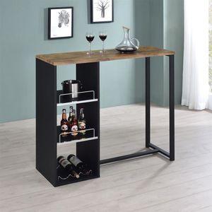 MEUBLE BAR Table haute de bar PIAVA mange-debout comptoir ave