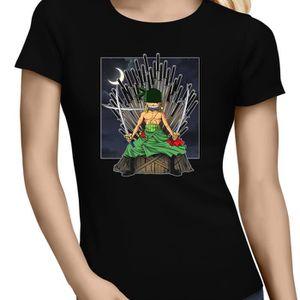 T-SHIRT T-shirt Femme Noir One Piece - Game of Thrones par