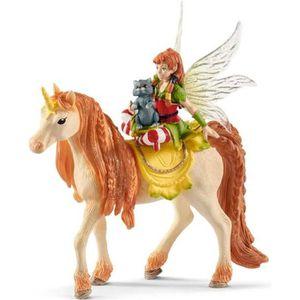 FIGURINE - PERSONNAGE SCHLEICH - Figurine 70567 Fée Marween avec une lic