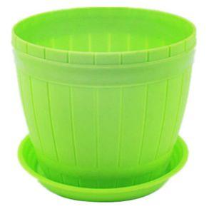 JARDINIÈRE - BAC A FLEUR XM1599-Pot de Fleurs Plastiques Vert Grande avec c