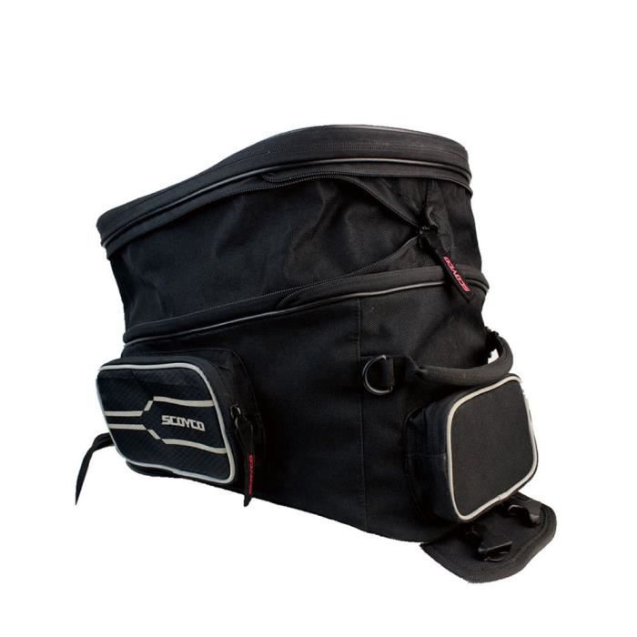 Sac de moto noir Sac de réservoir d'huile Motocicleta Course de moto Sac à dos Sac de réservoir de moto Sac à dos de moto