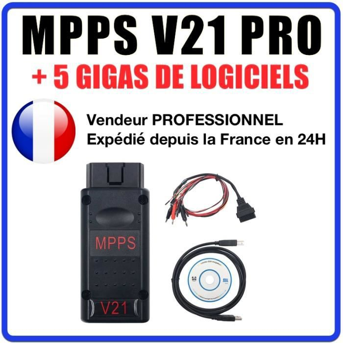 MPPS V21 - Valise reprogrammation multimarques - Flash chip tuning