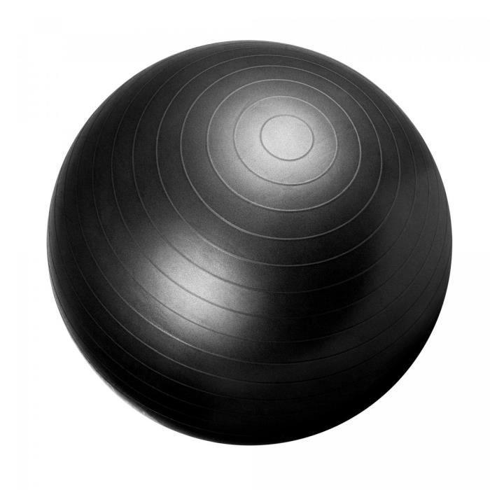 Swiss ball - Ballon de gym NOIR / 55cm