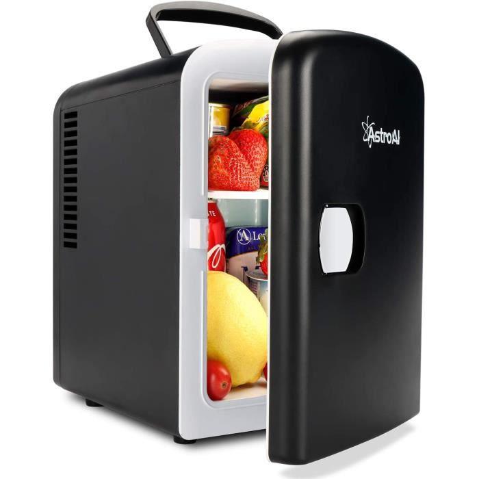 Mini Frigo de Chambre, Mini Réfrigérateur Voiture Portatif 4L 12V/220V, Glacière Électrique Chaud/Froid 0-66°C, Cadeau Femme Homme G