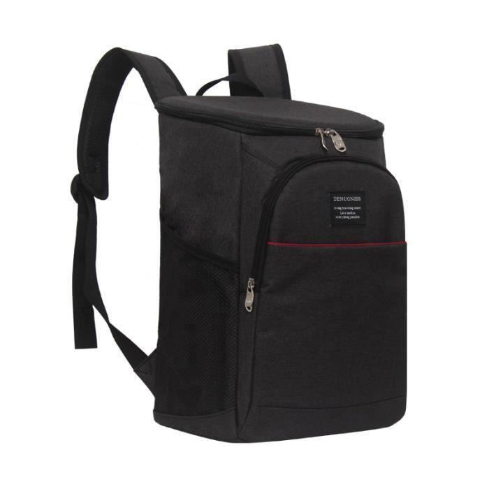 Sac à Lunch Portable,Sac isotherme épaissi imperméable grand sac de glace emballage alimentaire conteneur - Type Black