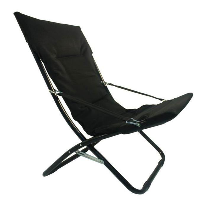 chaise extérieur canapone relax noir