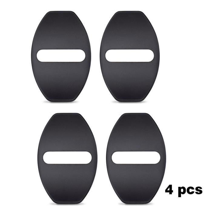 4pcs black -Couvercle de serrure de porte de voiture, boucle de protection pour Volkswagen Polo VW Golf 7 6 5 Passat CC Polo Audi A4