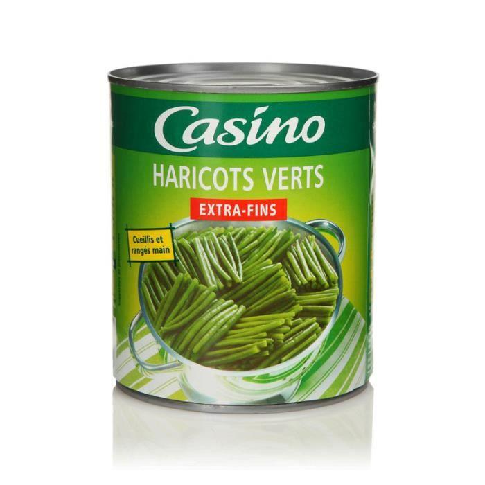 Haricots verts extra-fins - Rangés à la main - 440 g