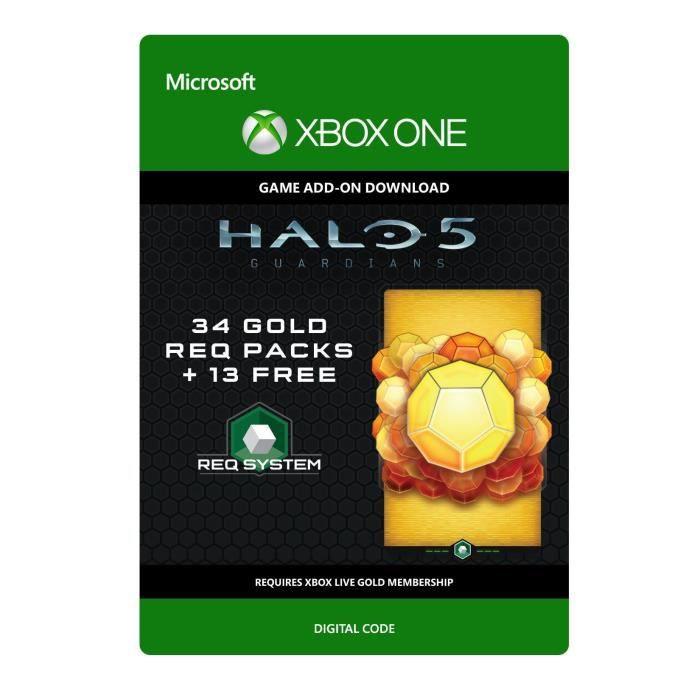 DLC Halo 5 - Guardians : 34 Gold REQ Packs + 13 Gratuits pour Xbox One