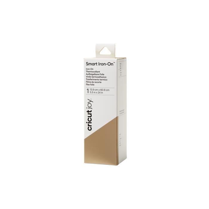 Cricut - 1 rouleau de thermocollant Smart Iron On doré - 13,9 x 60,9 cm