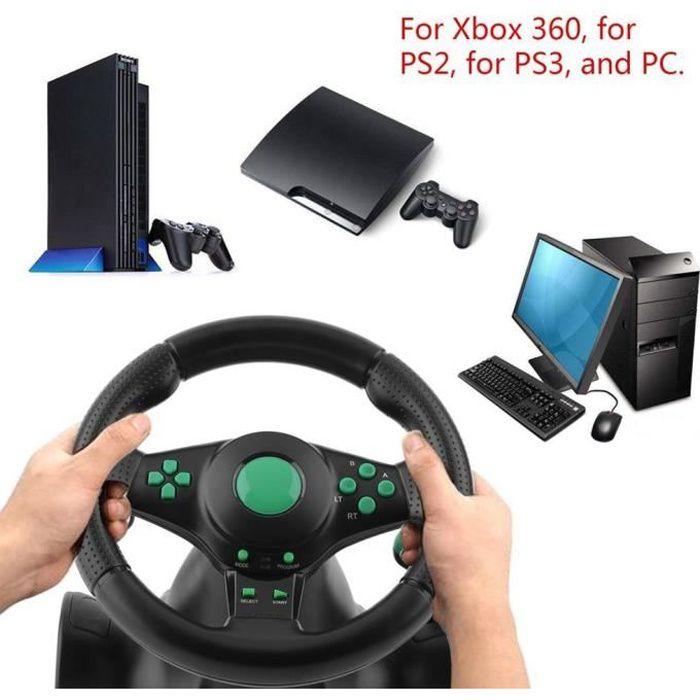 Volant de course de rotation de rotation de 180 degrés avec pédales pour xbox 360 pour ps2 pour le volant de voiture usb pc ps3