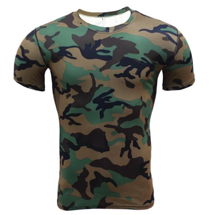 Maillot Compression À Manches Courtes T Shirt Pour Homme Sports Séchage Rapide Baselayer Haut 5 S