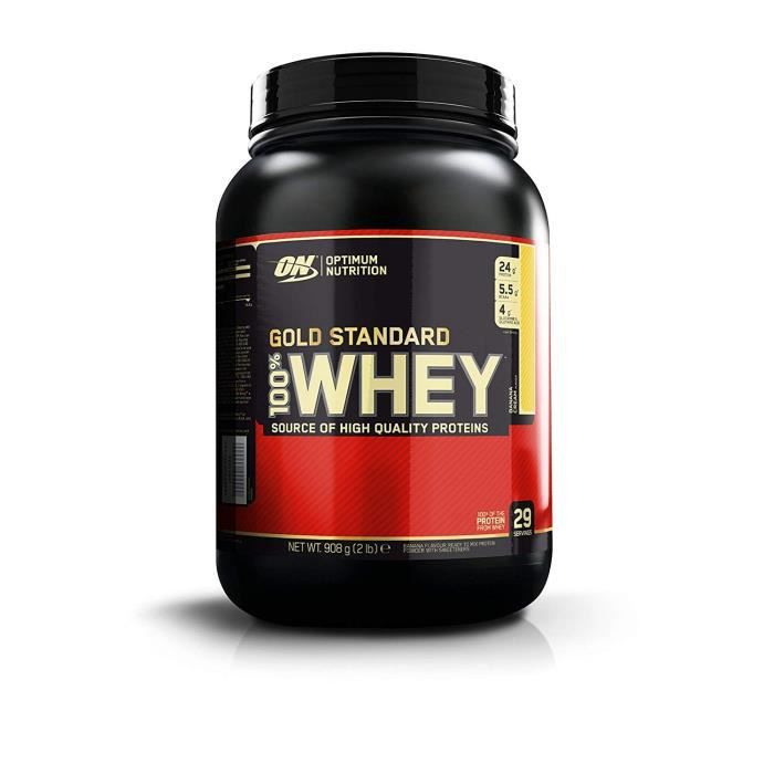 OPTIMUM NUTRITION Pot 100% Whey Gold Standard Banane - 908g