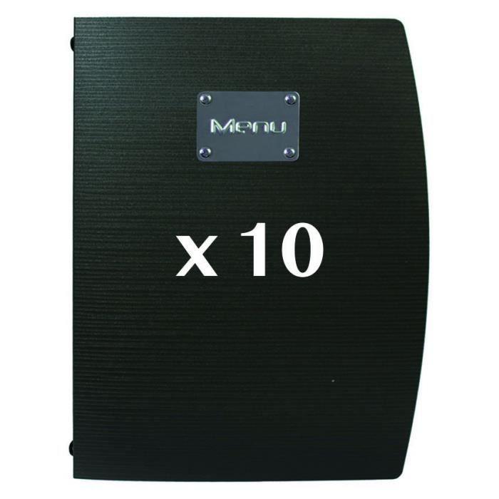 10 Protège-menus Rio Noir 18 PVC