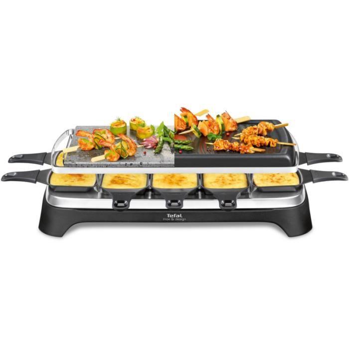 Raclette Tefal RE45A812 Pierrade 3 en 1 • Cuisson conviviale • Cuisine et cuisson