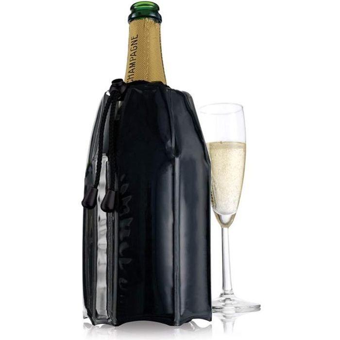 Refroidisseur à Champagne Noir Vacuvin