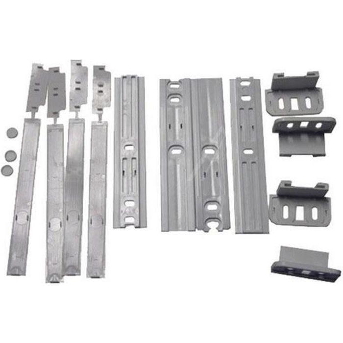 Ensemble glissières de porte (146095-14196) - Réfrigérateur, congélateur - WHIRLPOOL, ELECTROLUX, BAUKNECHT, IGNIS, ARTHUR MARTIN