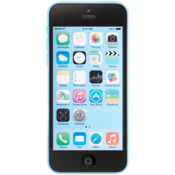 apple iphone 5c 16gb reconditionn a neuf bleu achat smartphone pas cher avis et meilleur. Black Bedroom Furniture Sets. Home Design Ideas