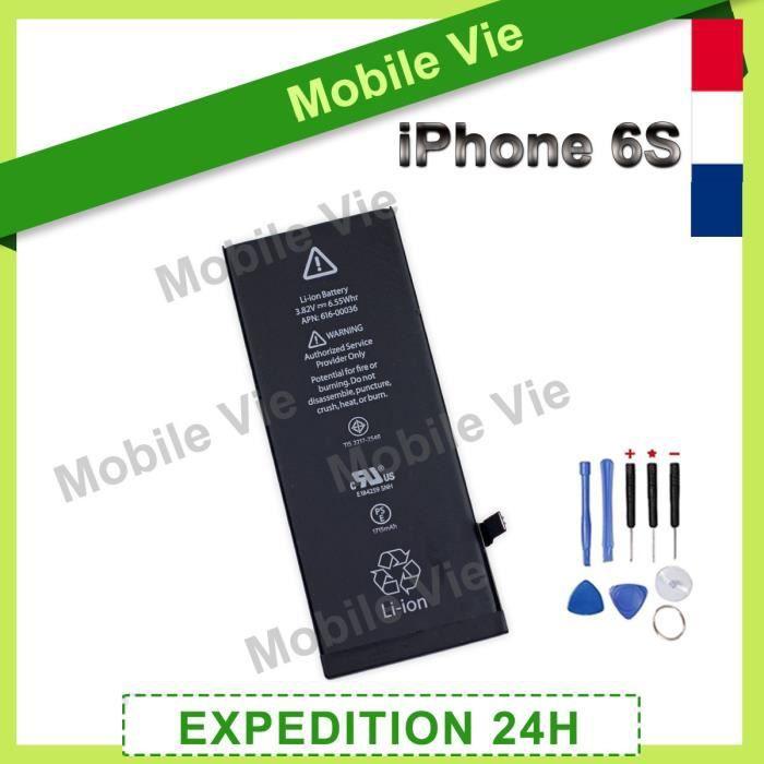 Batterie téléphone BATTERIE iPhone 6S INTERNE NEUVE + OUTILS