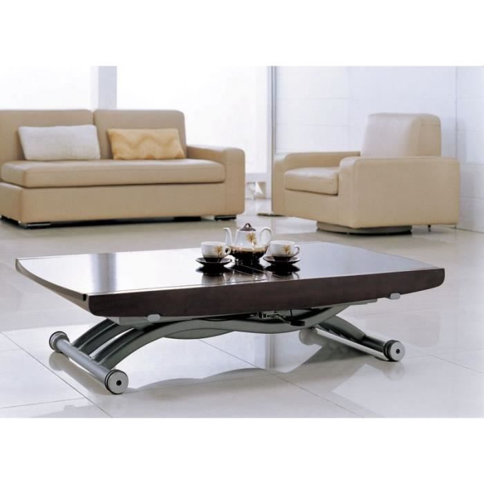 Table basse relevable allonges cooper weng achat for Table basse relevable wenge