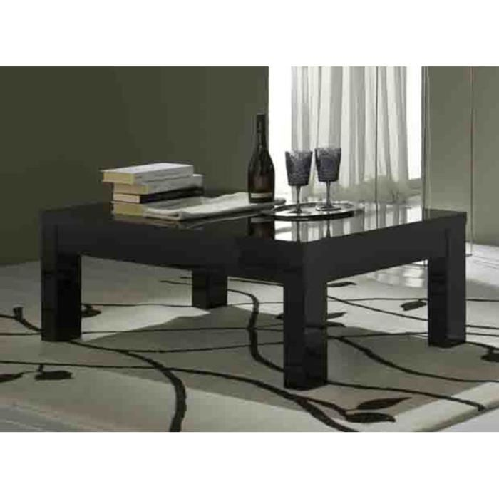 Table basse roma laqu e noir achat vente table basse table basse roma laq - Table basse laquee noir ...