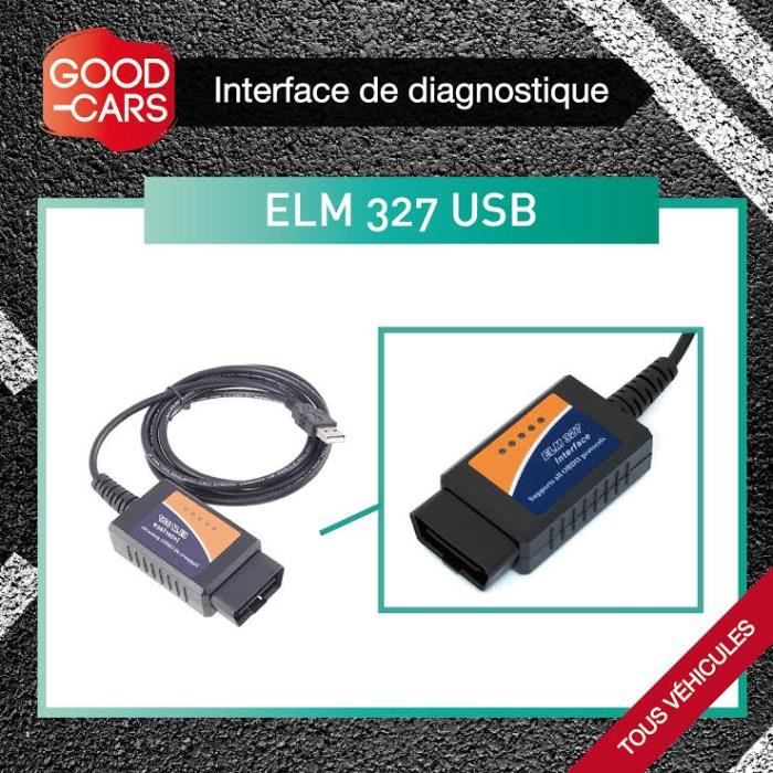 interface de diagnostique auto elm 327 usb achat vente outil de diagnostic interface de. Black Bedroom Furniture Sets. Home Design Ideas