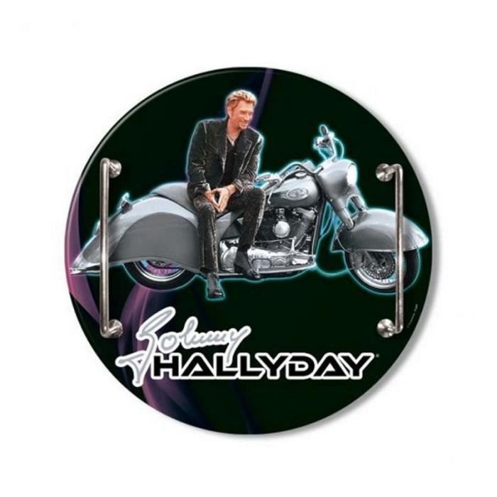 plateau rond en verre johnny hallyday motor achat. Black Bedroom Furniture Sets. Home Design Ideas