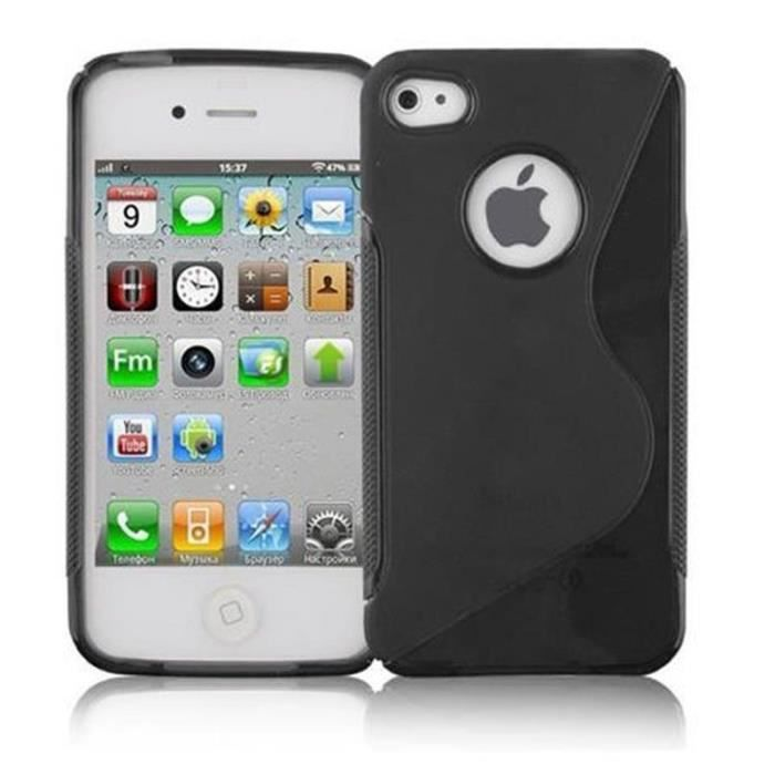 coque apple iphone 4 iphone 4s en noir de jais d