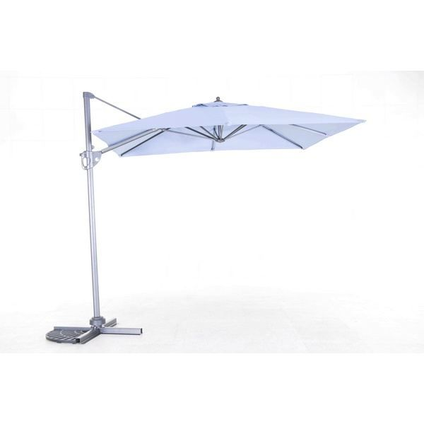 parasol excentr avec rotation de 360 taupe achat vente parasol parasol excentr rotation. Black Bedroom Furniture Sets. Home Design Ideas