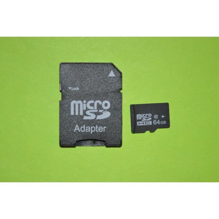 carte m moire micro sd 64 gb avec adaptateur sd achat vente carte m moire cdiscount. Black Bedroom Furniture Sets. Home Design Ideas