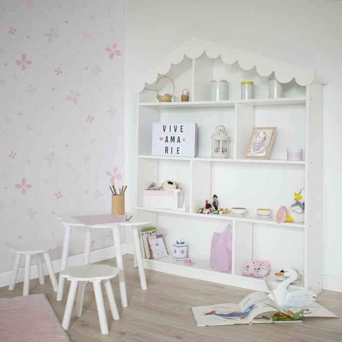 etagere maison enfant achat vente etagere maison enfant pas cher cdiscount. Black Bedroom Furniture Sets. Home Design Ideas