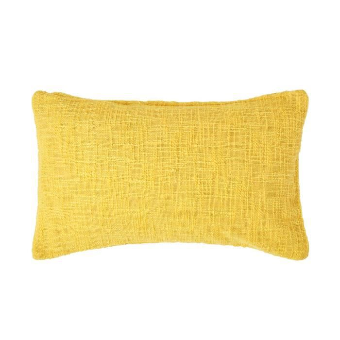 coussin d houssable jaune nirvana 30 x 50 cm achat vente housse de coussin cdiscount. Black Bedroom Furniture Sets. Home Design Ideas