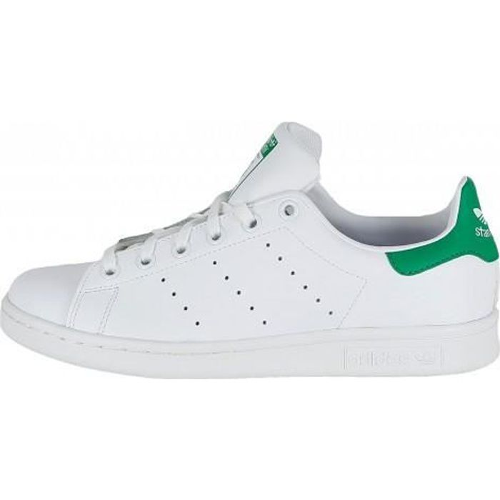 ADIDAS ORIGINALS Basket Stan Smith Cuir Blanc et vert