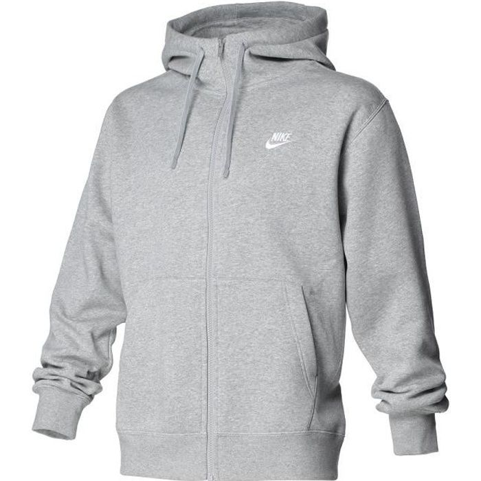 NIKE Sweat à capuche zippé Nsw Club Hoodie FZ BB Homme Gris