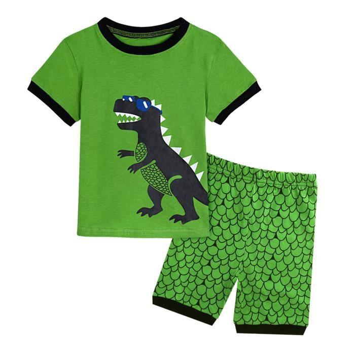 Garçons T Shirt Top Jogpants Ensemble 2 pièces Dinosaure Dino Coton Ensemble Cadeau 2-8 ans