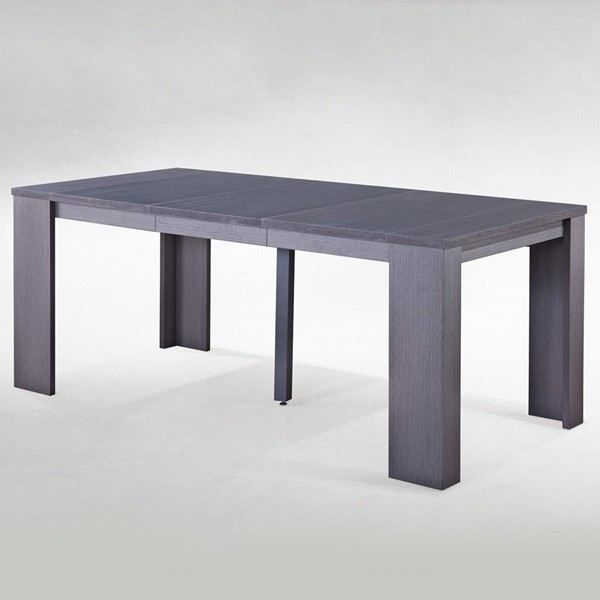 Table console extensible switch gris vieilli achat for Table extensible gris clair