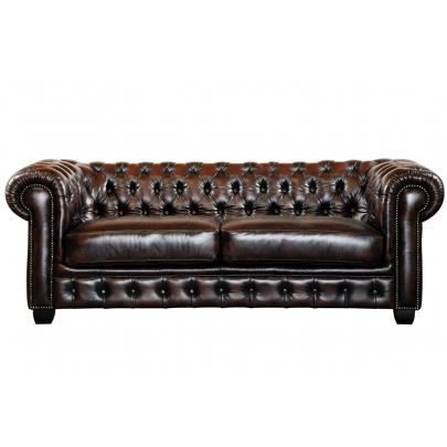 canap chesterfield 3 places brenton 100 cuir de achat vente canap sofa divan cdiscount. Black Bedroom Furniture Sets. Home Design Ideas