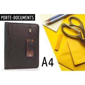 ATTACHÉ-CASE Chic Porte-documents A4 en Cuir pour Bureau, Busin