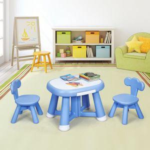 TABLE ET CHAISE Ensemble Table et 2 Chaises pour Enfant 3-7 Ans en