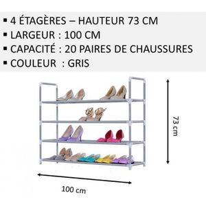 MEUBLE ÉTAGÈRE Meuble Chaussures,No55, Modulable 2 14 Étagères (1