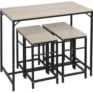 MANGE-DEBOUT Ensemble de Table et  4 chaises de Salle à Manger,