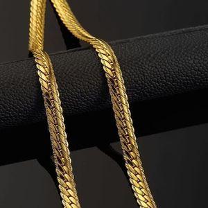 CHAINE DE COU SEULE Gold Chain Trendy Pour les hommes Bijoux or jaune
