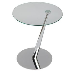 TABLE D'APPOINT Guéridon rond acier chromé - CALI
