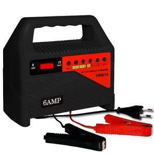CHARGEUR DE BATTERIE Chargeur de batteries 6 Ampères avec affichage LED