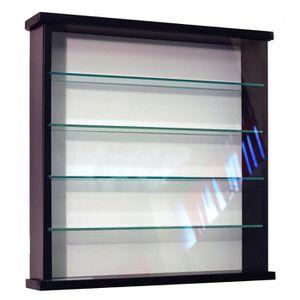 VITRINE - ARGENTIER EXHIBIT Vitrine noir 4 étagères en verre