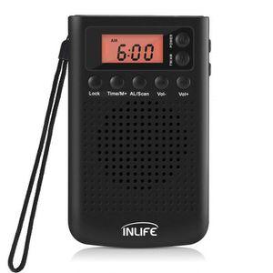 RADIO CD CASSETTE Radio Portable FM/AM, INLIFE Mini radio, avec Haut